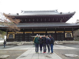 tour of one of the many shrines and temples in Kyoto, and it was snowing , Andrew M - January 2014