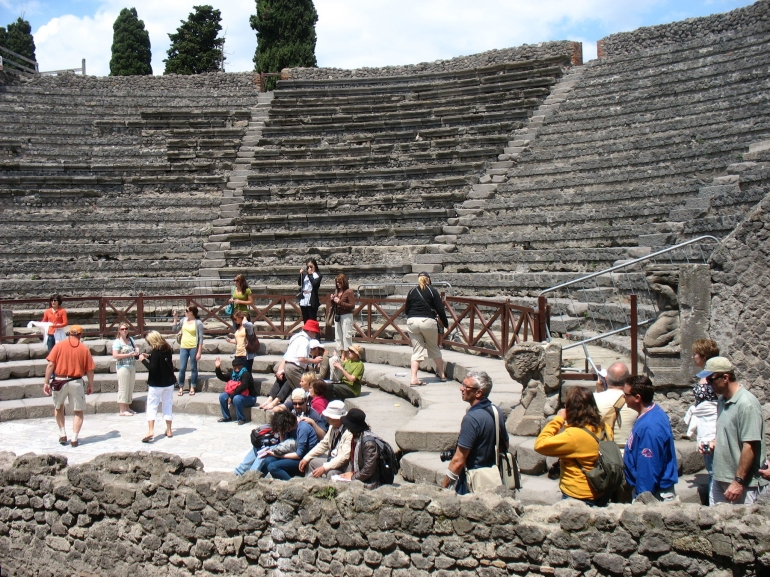 The theatre at Pompeii - Naples