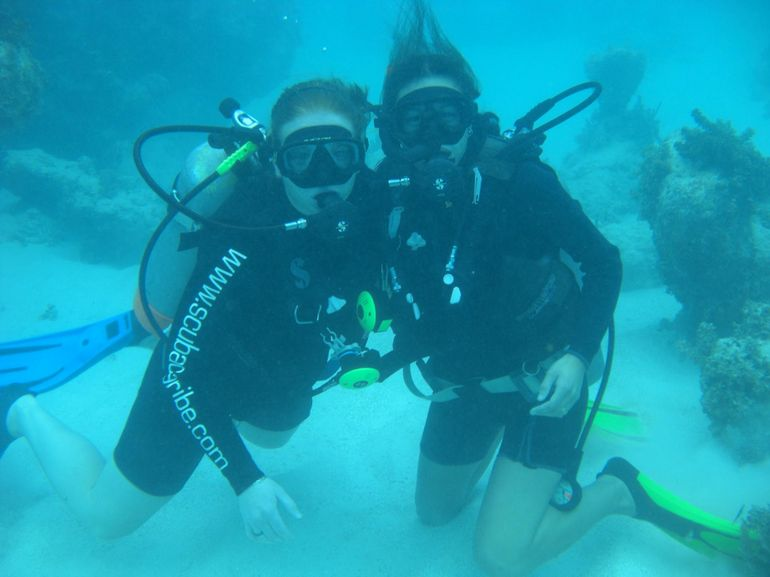 This is us on our PADI dive - Punta Cana