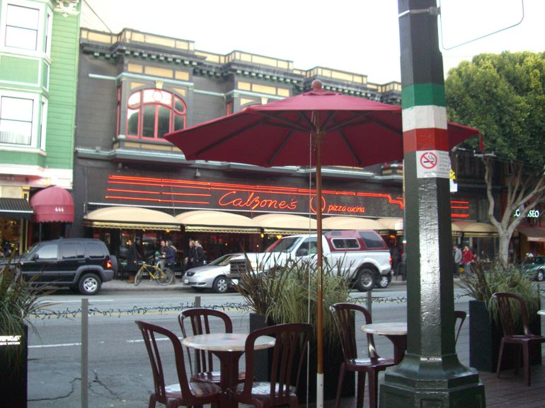 View from Caffe Greco in North Beach, SF - San Francisco