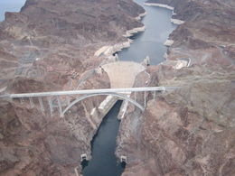 Photo of Las Vegas Ultimate Grand Canyon 4-in-1 Helicopter Tour View of Hoover Dam from the hellicopter