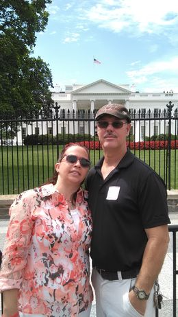 wayne and I standing in front of white house , helms11768 - August 2015