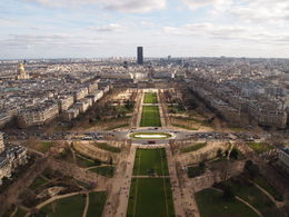View of the Champ de Mars, Rachel - March 2014