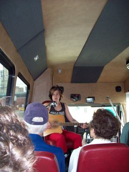 Photo of   and quot;Whole lotta singin' goin' on! and quot; on the Memphis Mojo Musical Bus Tour