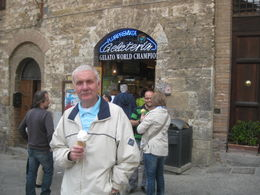 Photo of Florence Siena and San Gimignano Day Trip from Florence bliss wine flavoured ice cream!