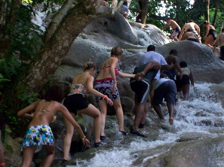 Climbing the Dunn's River Falls - Montego Bay
