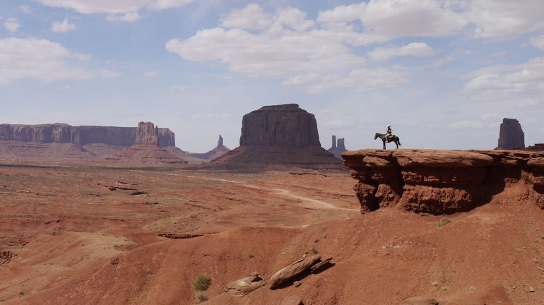 Cowboy Scene in Monument Valley -