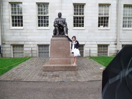 Harvard university, rub the shoe for good luck , Kimberley P - July 2015