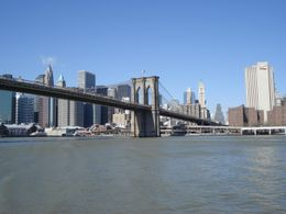 Brooklyn Bridge from the cruise., JOHN S - March 2008