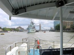 HMS Belfast is Europe's last surviving big warship from World War 2 Viewing from Thames Clippers River Roamer: Hop On Hop Off Pass, Joseph C - September 2009