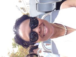 Roblyn Hymes enjoying Paris L'Open bus tour. , Roblyn - October 2014
