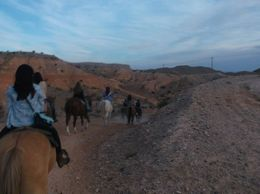 Photo of Las Vegas Wild West Sunset Horseback Ride with Dinner Riding along