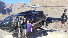 Photo of Las Vegas Grand Canyon Helicopter Tour from Las Vegas The Mayle's from Va. at the bottom of the Grand Canyon.