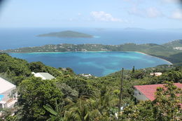 Great view showing the eastern side of St Thomas. This picture shows a good view of Megan's Bay. , Steven J - September 2014