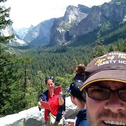 Enjoying the view of Yosemite Valley , Grant E - August 2015