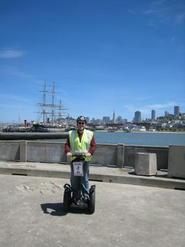 A photo of me taken by our Segway tour guide, at the waterfront; our guide is good at photography also!, eamonnshanahan - June 2008