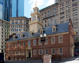 The Old State House in Boston. Oldest surviving public building in Boston, site of the Boston Massacre, currently a museum within the Boston National Historical Park & one of the museums on the ...  - May 2011