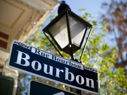 Photo of   Bourbon Street sign in New Orleans