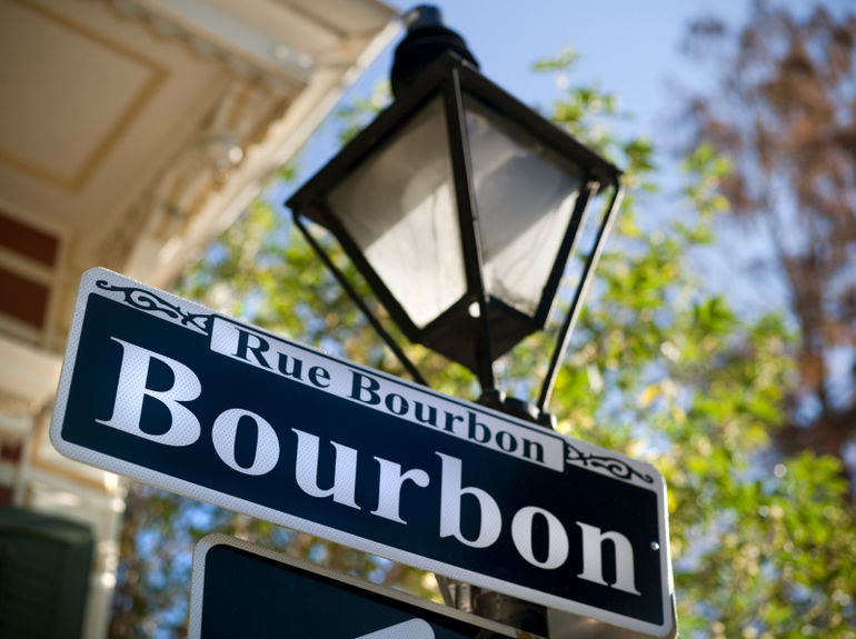 Bourbon Street sign in New Orleans - New Orleans