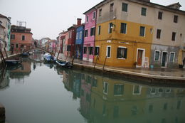 A misty day in the beautiful Burano Island. Filled with beautiful little shops. Great place to buy lace. , Julie S - January 2016