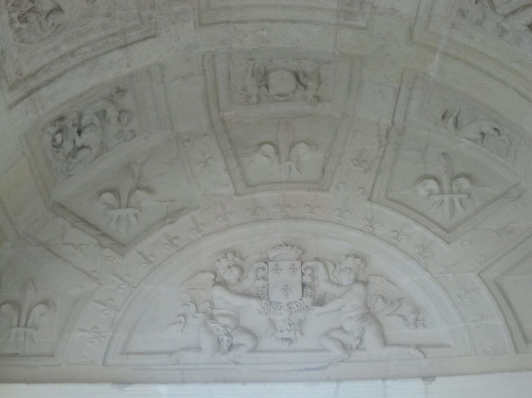 Ceiling in Chambord Chateau - Paris