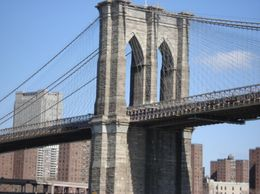 Photo of New York City Manhattan Harbor Cruise Close-up - Brooklyn Bridge