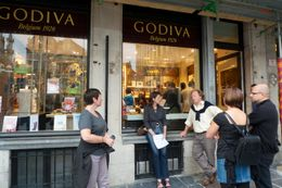 Photo of Brussels Brussels Night Walking Tour: Gourmet Belgian Food In front of Godiva