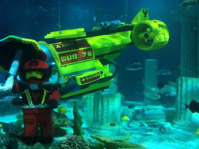 Lego in the large Aquarium - San Diego