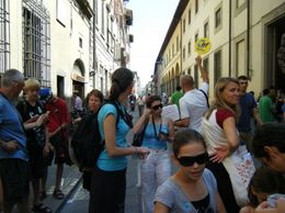 Outside Accademia Gallery - March 2012