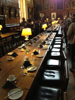 The dining hall claimed to be the inspiration for the Harry Potter dining hall , Rakela C - August 2013