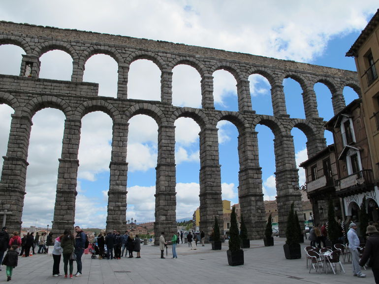 The Roman aqueduct built by the Emperor Trajan in the 1st century AD. - Madrid
