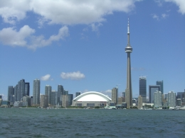 Toronto skyline, taken from the boat, Jill B - June 2010