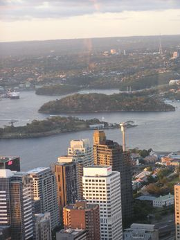 View overlooking Sydney and Goat Island from 360 Restaurant - January 2010