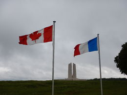 Flags at Vimy Ridge Memorial , jatypan - September 2015