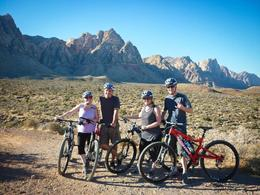Photo of Las Vegas Guided Mountain Bike Tour of Mustang Trail in Red Rock Canyon Enjoying our first experience on Mustang Trails