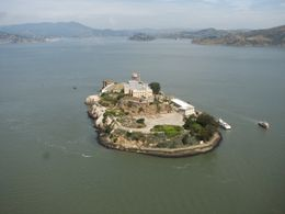 We flew very close to Alcatraz - August 2009
