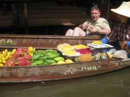 Photo of Bangkok Floating Markets of Damnoen Saduak Cruise Day Trip from Bangkok Fresh fruits for sale!
