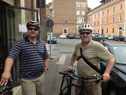 Photo of Rome Rome City Bike Tour Getting Ready for the bike ride