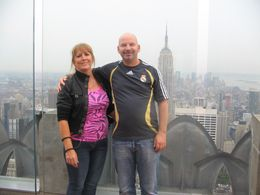 Photo of New York City Top of the Rock Observation Deck, New York Jimmy and Tracy's 25th Wedding Anniversary