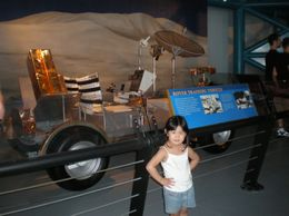 Posing with moon mobile., Ida Pratignjo L - October 2008