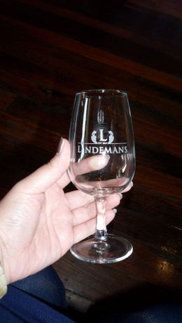 Photo of Sydney Hunter Valley Wine Tasting Day Tour from Sydney Lindeman's wine tasting glass
