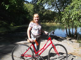 Photo of New York City NYC Central Park Bike Rental Me and my bike in Cental Park