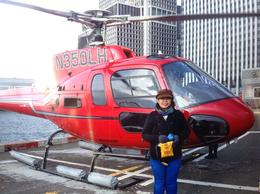 Photo of New York City Big Apple Helicopter Tour of New York obligatory touristy pose in front of the helicopter