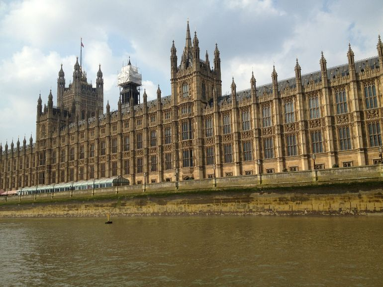 Parliament from the Tems - London