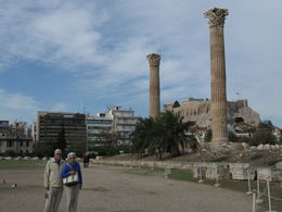 My brother and his wife share the stage with 2 of the most important Grecian antiquities. , donald b - November 2012