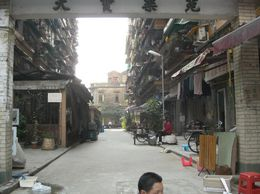 A street in China near the market., JULIE F - March 2008