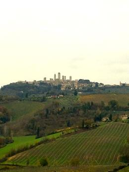 The view from the terrace at the farm in Chianti where lunch is served , Kristine Renna - December 2014