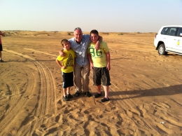 This is me and my two sons on our recent Desert Safari in Dubai, John M - October 2010