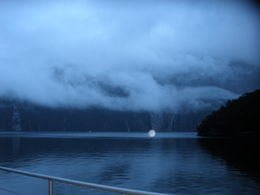 Photo de Fiordland et Milford Sound Croisière avec nuitée sur le Milford Sound, à bord du Milford Mariner Awesome misty day on Milford