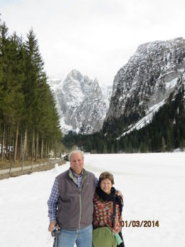 We are finally standing in snow in the Bavarian Mountains. , Phillip S - March 2014